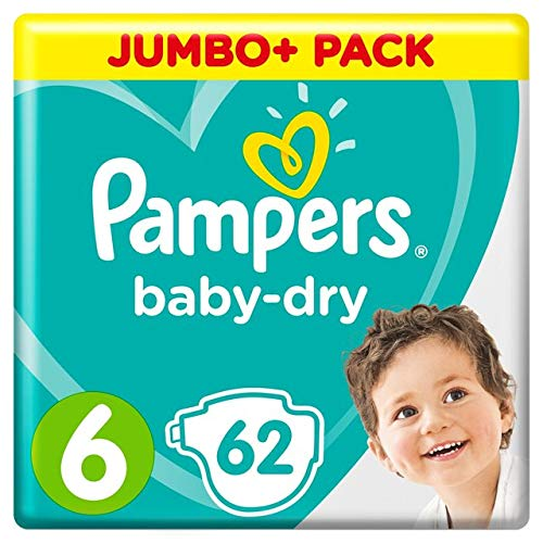 Pampers Baby Dry Größe 6 (16 + kg) Jumbo Pack 62 pro Packung