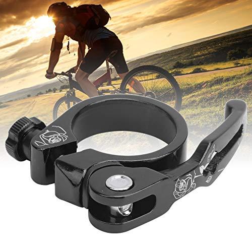 Deryang Clip de Tubo de Bicicleta, Clip de tija de sillín de liberación rápida Resistente a la corrosión con 1 Pieza para la mayoría de Abrazaderas de Tubo de Bicicleta para Ciclistas(Black)