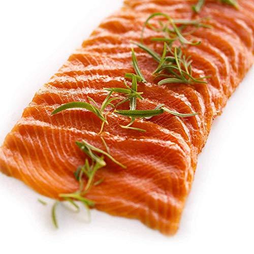 Sockeye - Salmón salvaje ahumado de gran calidad - Salmon silvestres ahumados / Certificado MSC / Cortado, salados a mano / Canadá (2 x 200 g)