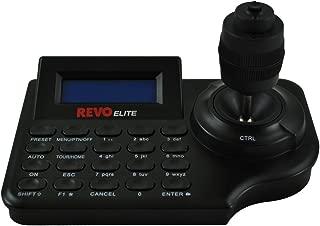 REJCPTZ-2 Elite Universal PTZ CCTV Joystick+Keyboard Controller (Black)w/d Backlit LCD Screen, Pan-Tilt-Zoom-Focus-Iris-Twist-Control Adjustments