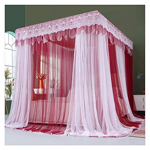 HCYY Mosquitera Mosquitera Red de Tres Puertas Ropa de Cama Mosquitera para Dormitorio con mosquitera de Cama con Marco de Acero Inoxidable (Color: 3, Tamaño: Cama de 2.0x2.2M)