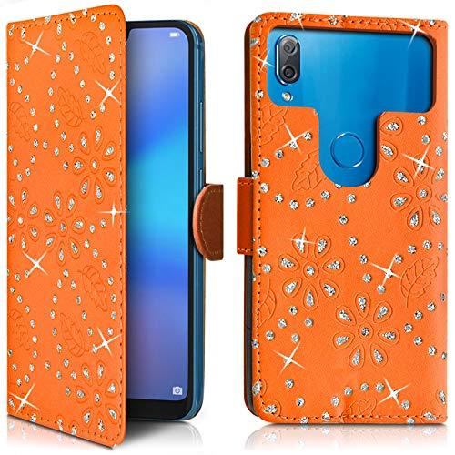 Karylax Schutzhülle für Smartphone Essentielb Heyou 5, mit Diamanten, Orange