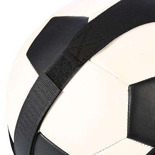 CUTULAMO Equipo de Entrenamiento de fútbol, Entrenador de fútbol, Equipo de Entrenamiento de fútbol, Ajustable de Larga duración con Gancho y Bucle para práctica de Tiro para Mejorar Las