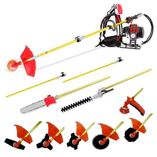 New Lidetools Brush Cutter, Back Pack Long Reach Chain Saw,Pole Hedge Trimmer