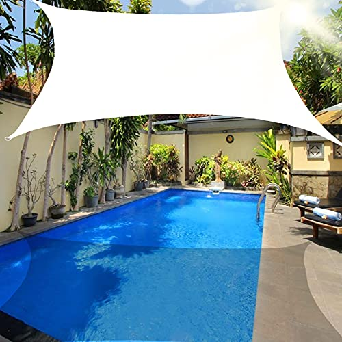 Toldo rectangular para toldo toldo protector de tela toldo para exteriores bloque UV resistente a los rayos UV impermeable con kit de herrajes para cochera de patio al aire libre blan