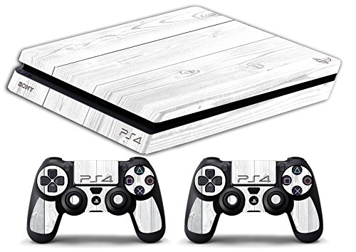 Skin PS4 SLIM HD - TEXTURA BLANCO DE MADERA - limited edition DECAL COVER ADHESIVO playstation 4 SLIM SONY BUNDLE: Amazon.es: Videojuegos