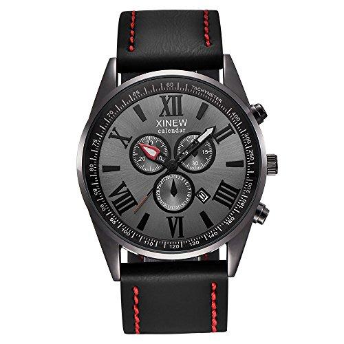 WoWer Herren Uhren Militär Sport Wasserdicht Chronograph Silber Edelstahl Armbanduhr Männer Schwarz Herrenuhr Markenuhren Analog Quarzuhr
