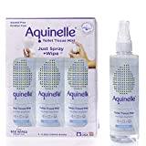 Aquinelle Toilet Tissue Mist, Eco-Friendly & Non-Clogging Alternative to Flushable Wipes Simply Spray On Any Folded Toilet Paper (3-8.25 oz Ocean Breeze)