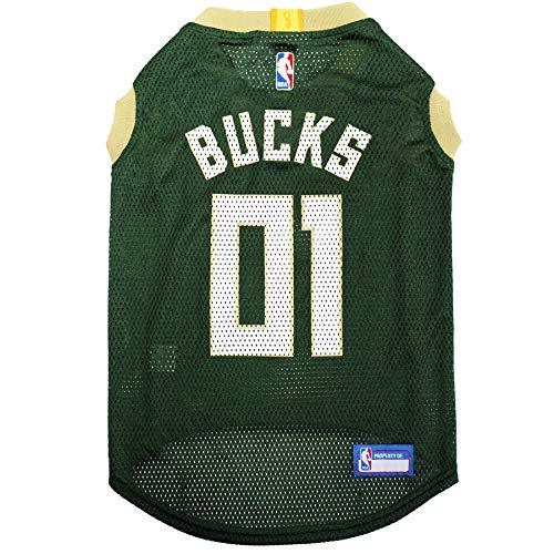 NBA MILWAUKEE BUCKS DOG Jersey, Medium - Tank Top Basketball Pet Jersey