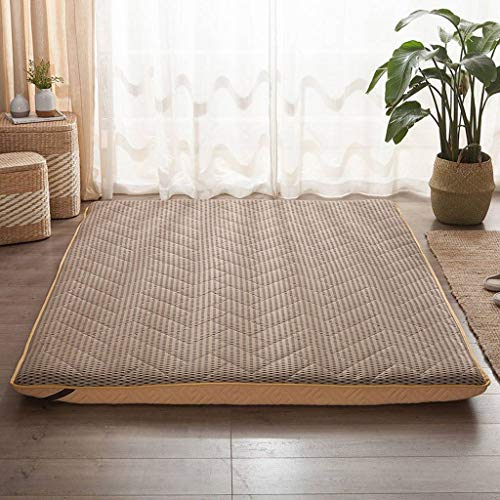 SINKITA Thicken Japanese Floor Mattress,Japanese Floor Mattress Cotton Top Guest Bed Futon Mattress Collapsible Portable Roll Up-D-120x200cm(47x79inch)