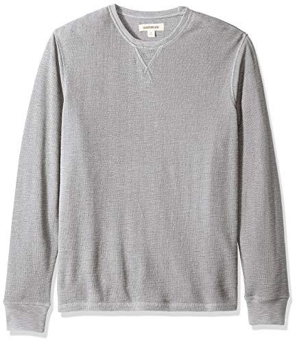 Marca Amazon - Goodthreads: camiseta térmica de manga larga con cuello redondo para hombre, Gris (heather grey), US XXXL (EU 5XL - 6XL)