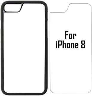 10x Sublimation Blank Cases Compatible with Apple iPhone 8-Plastic-Black - Blank Dye Cases and Inserts for Dye Sublimation Phone Cover/Blank Printable Cases, Made by INNOSUB USA