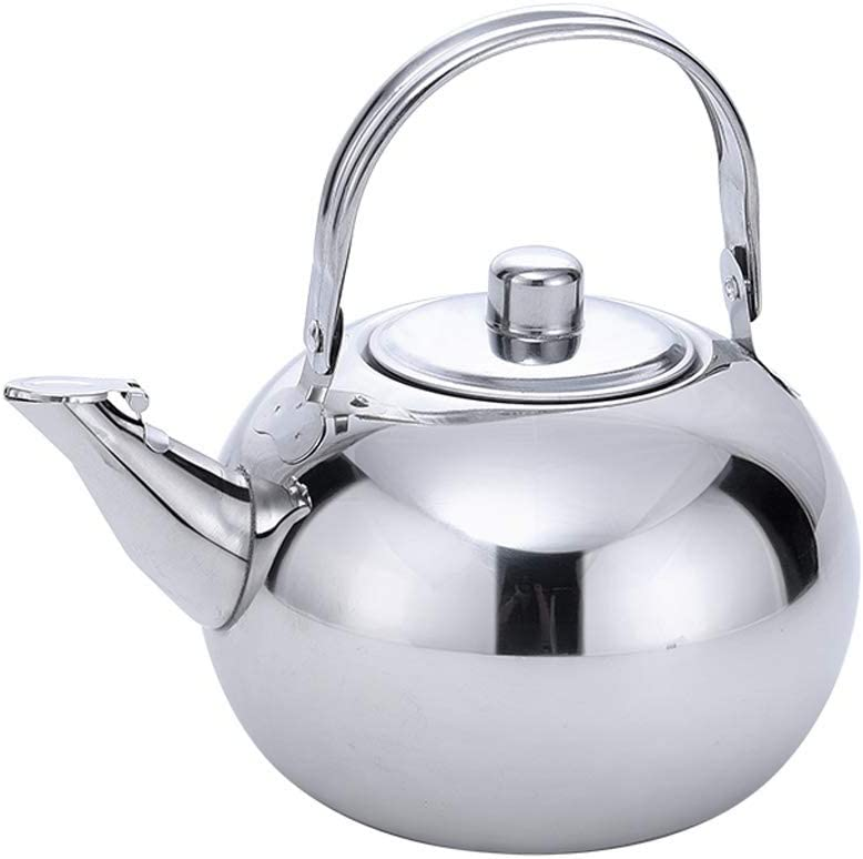 Stainless Steel Teapot Large Gold Flower Set Max 64% OFF Chicago Mall Pot Coffee Tea