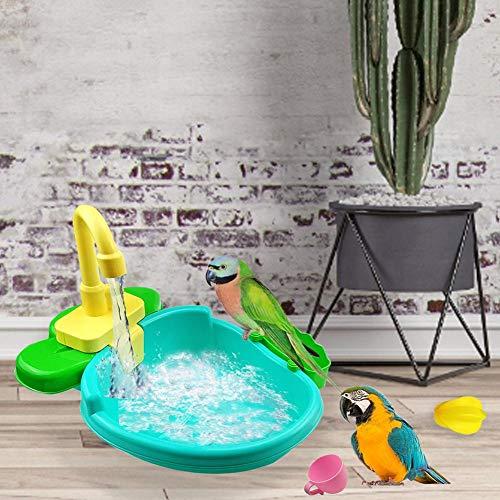 N/V Juguetes, Bañera para Pájaros, Bañera para Loros, Caja para Bañera para Pájaros, Bañera Automática para Loros, Juguete para Baño con Jaula para Pájaros, Suministros para Mascotas (2 Colores)