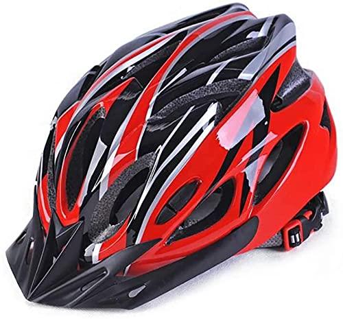 YQZX Casco de Bicicletas para Bicicletas, Moldeado de protección contra protección, Equipo Deportivo al Aire Libre, Seguridad, superlightlight, Ajustable, Casco de Bicicleta,Red