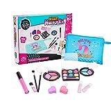 Smaler Maquillaje Juego De Chicas Juguetes - Mi Primer Kit De Maquillaje De Princesa 14pcs - Kit De Juguete De Maquillaje De Juego Lavable con Bolsa De Cosmética