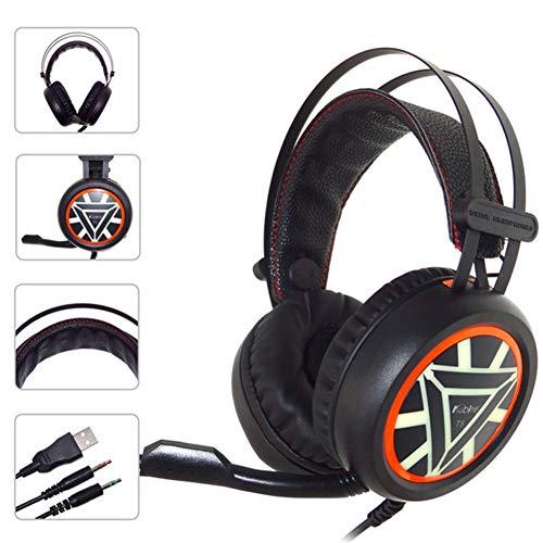 SZKQN Gaming-headset met stereo-kabel, gaming headset met koptelefoon en noise cancelling-microfoon voor PC, MAC, Playstation 4, Xbox One