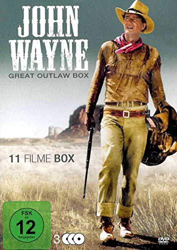 John Wayne - Great Outlaw Box - 11 Filme Box [3 DVDs]