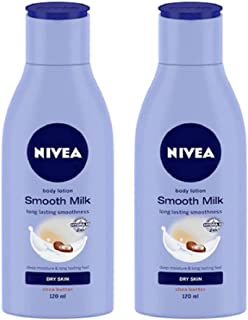 Nivea Set of 2 Smooth Milk Body Lotion For Dry Skin
