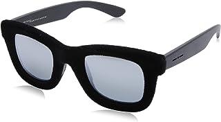 نظارة شمس بعدسات شبه مربعة رمادي وشنبر قطيفة للنساء من ايطاليا انديبندنت - اسود