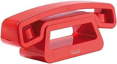 SwissVoice(スイスボイス) イーピュア シンプル コードレス電話機 コンパクト 子機増設可能 正規輸入品 日本語説明書付き レッド