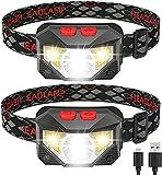 2 confezioni da 1000 lumen torcia LED ricaricabile torcia LED torcia torcia multifunzione USB per campeggio, corsa, ciclismo e pesca