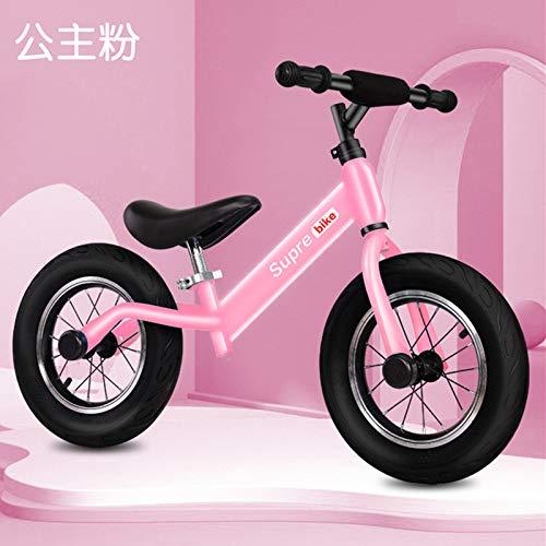 Feiteng Las Bicicletas para niños, Bicicletas de Equilibrio de Madera, Scooters, Motos sin Pedales, Bicicletas correderas de inercia,Rosado