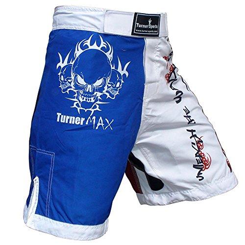 TurnerMAX MMA Shorts, Red/Wht,Blue, XL