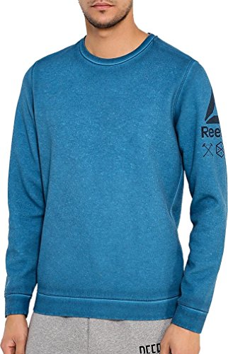 Reebok Quik Cotton Mens Sweatshirt - Blue-S