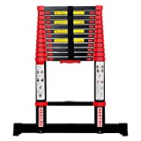 BEETRO 12.5ft Aluminum Telescoping Ladder, Extension Folding Ladder, for Roofing Business, Outdoor Working, Household Use and More, 330lbs Max Capacity, More Durable and Safer with Balance Rod
