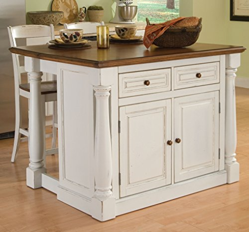 Home-Styles-Large-Monarch-Stationary-Antique-White-and-Distressed-Oak-Kitchen-Island-with-Oak-Top-Drop-leaf-Breakfast-Bar-Two-Storage-Drawers-and-Cabinet-with-Four-Adjustable-Shelves-with-Two-Matching