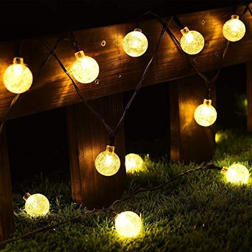 Cmyk® - Guirnalda de luz solar con 30 luces LED con cubiertas...