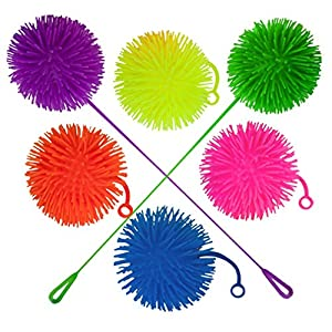 """Set of 6 Jumbo 5"""" Light Up Puffer Ball Yo-Yos by Pudgy Pedro's Party Supplies"""