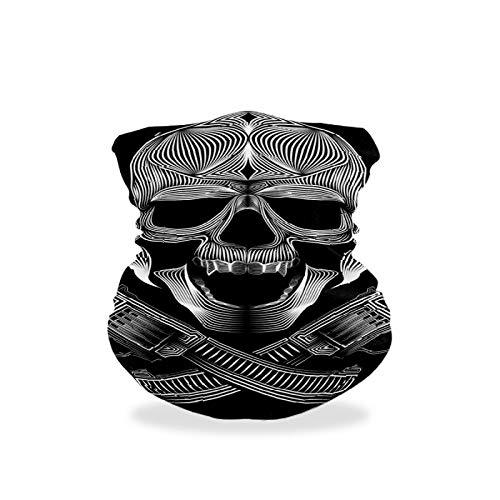 Asiga Collo Ghetta Faccia Sciarpa Maschera-Polvere, Donne Passamontagna Bandana Skull Gangsters Vector