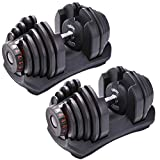 DatingDay 90Lbs Adjustable Dumbbells,Adjustable Dumbbell Weight Set,Can Be Used As Dumbbells for Gym Work Out Home Training Suitable for Men and Women (1 Pair)
