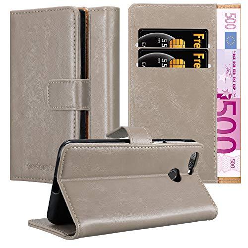 Cadorabo Hülle für ZTE Blade V9 in Cappuccino BRAUN – Handyhülle mit Magnetverschluss, Standfunktion & Kartenfach – Hülle Cover Schutzhülle Etui Tasche Book Klapp Style