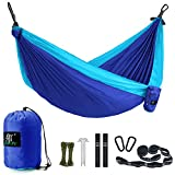 Camping Hammock, LAX Portable Double Durable Hammock for Backpacking,...