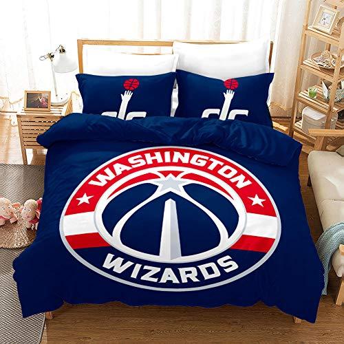 FAIEK Duvet cover Solid color bed linings basketball fan Dark blue basketball,King 200X200CM