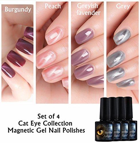 Magnetische ständigen joligel Set 4x Stamping Maniküre, Nagellack Gel Shellac UV LED Effekt Auge...