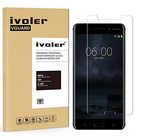 Pellicola Vetro Temperato Nokia 6, iVoler® ** [Protezione Antigraffi] **Anti-riflesso Ultra-Clear** Ultra resistente in Pellicola Nokia 6, Pellicola Protettiva Protezione...