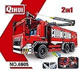 Qihui Feuerwehrfahrzeug mit Wasserspritzen 2 in 1, Artikel Nr. 6805