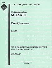Don Giovanni, K.527 (Act II, Canzonetta (Serenade): Deh vieni alla finestra (baritone)): Viola part (Qty 7) [A2932]