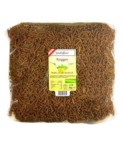 pastafani Roggen Spiralen 5kg - FAMILY- UND GASTRO-PACK - Die kraftvolle Pasta aus natürlichen, qualitativ hochwertigen Zutaten ohne Aroma- oder Zusatzstoffe, vegan
