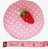 Pin Cushion Emery10 oz Needle Storage Organizer Fabric Pattern Cloth/Fabric Weight- Strawberry