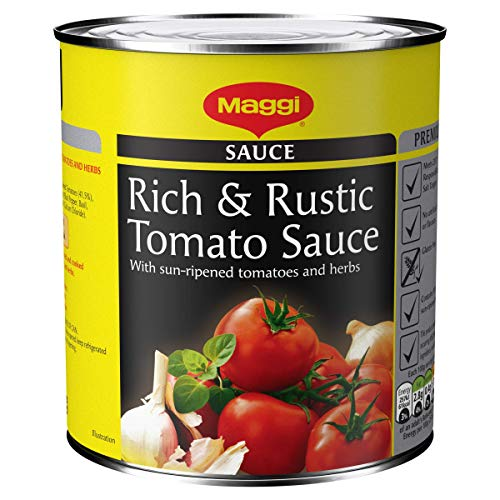 MAGGI Rich and Rustic Tomato Sauce, 800 g (Pack of 12)