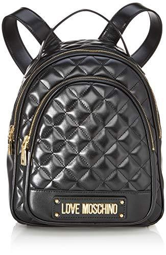 Love Moschino Damen Borsa Quilted Nappa Pu Rucksackhandtasche, Schwarz (Nero), 29x30x12 Centimeters