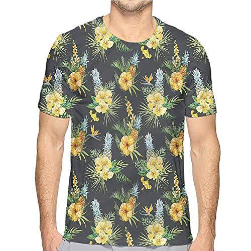 T-Shirt Drucker Hawaii, Floral Botanic Garden Junior T-Shirt, L
