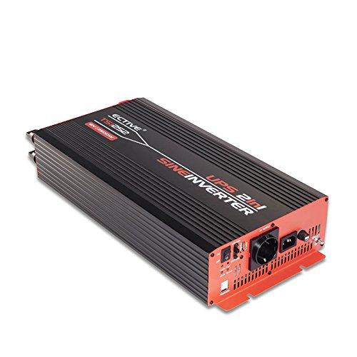 ECTIVE 2500W 12V zu 230V TSI-Serie Reiner Sinus Wechselrichter mit NVS in 6 Varianten: 500W - 3000W