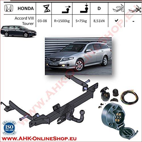 bester der welt 2002-2008 Honda Accord Tourer Anhängerkupplung Anhängerkupplung mit 7-poligem Elektrogeräteset für Anhänger… 2021