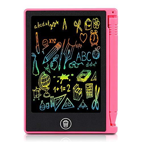 Mugast LCD Writing Tablet, 4,5 Pollici Tavoletta Grafica Portatile Multifunzione per Bambini Adulti Disegno di Scrittura Note di Ufficio (Rosso)